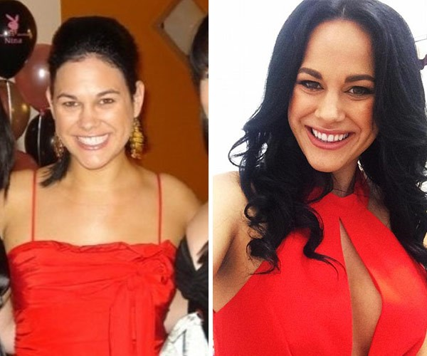 Before and after: Nina loves her Bangkok boob job.