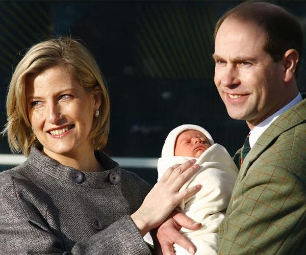 Prince Edward rushed back to England for his daughter's arrival.