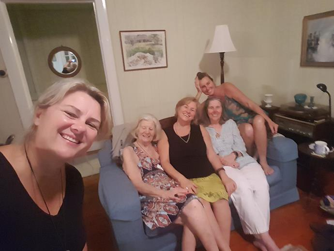With Mum (second right), Kerryn and her sisters.