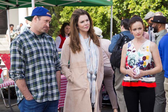 Luke, Lorelai and Rory.