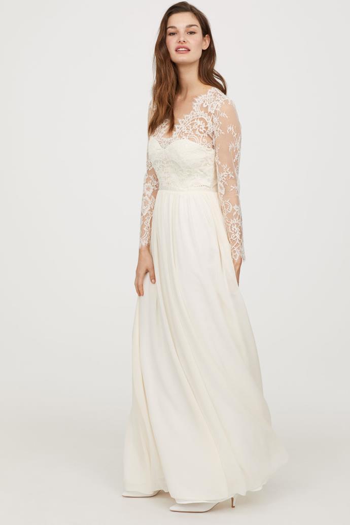 The H&M Long lace dress.