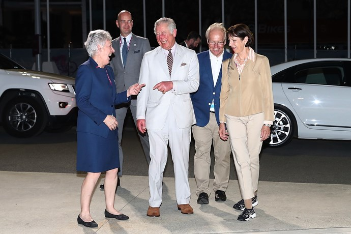 Prince Charles is never *not* smiling!