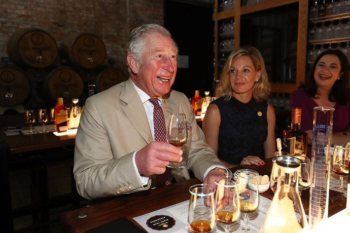 "Charles can't get enough of the ""spirit"" Australians, as well as our Bundaberg rum."