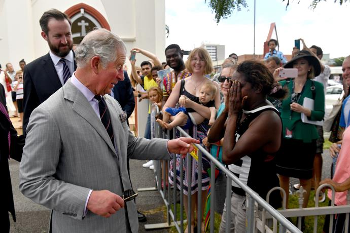 """Excuse me, Prince Charles, can I shake your hand?"""