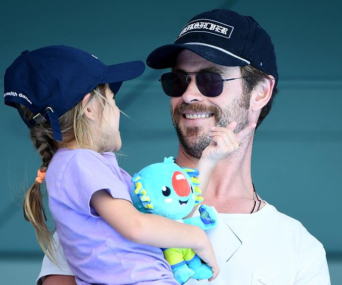Dad of the year! Chris and 5-year-old India Rose have a ball at the swimming.