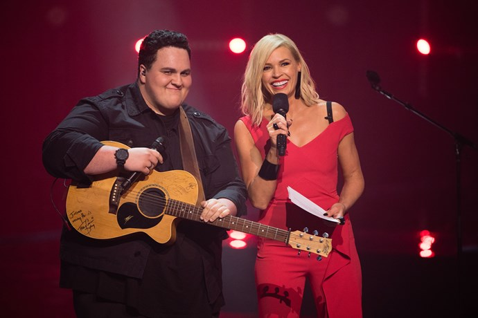 Sonia with *The Voice* 2017 winner Judah Kelly.