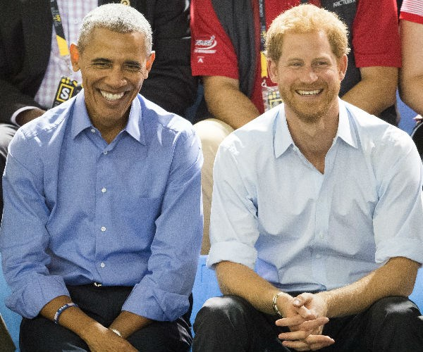 Prince Harry and Barack Obama bond at the Invictus Games - which the popular royal and Michelle brought to America in 2016.
