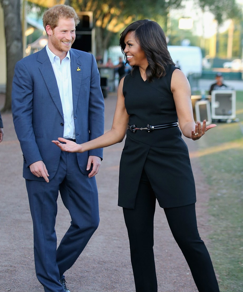 Prince Harry met Michelle Obama in 2013 and the two have been great friends ever since.