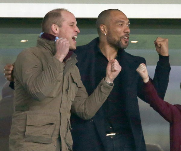 William may have let the Royal Baby's gender slip while attending the Aston Villa vs Cardiff City football game in Birmingham.