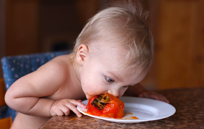 """""""Recently I mentioned that I planned on raising our children vegetarian (as vegan as possible) and he FLIPPED out."""""""