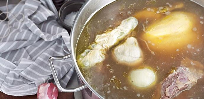 "The longer you cook this nourishing broth, the more nutritious it will become. You can sip the broth on its own for a quick health-boost, or use it in place of stock in your soups, stews or casseroles. [**Find out how to make bone broth for a healthy gut here**](http://www.foodtolove.com.au/recipes/basic-bone-broth-30951|target=""_blank"")"