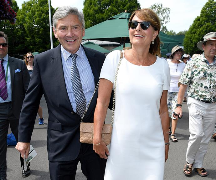 Michael and Carole Middleton own a party supply company that is selling royal-themed decorations ahead of the Prince Harry's wedding to Meghan Markle.