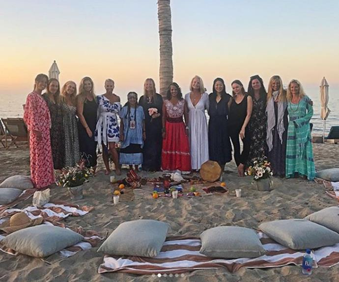 A group of girlfriends, including Stella McCartney, joined Gwyneth in Cabo, Mexico for what is believed to be a bachelorette party.
