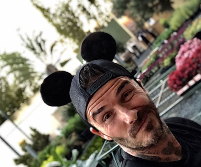 David embraced the spirit of the happiest place on earth with an iconic Mickey Mouse hat.