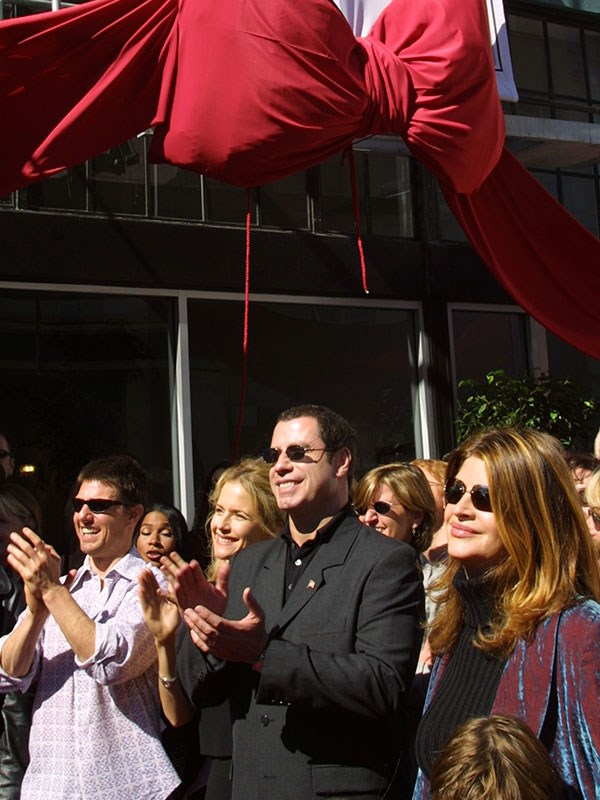 Tom Cruise, John Travolta, Kelly Preston and Kirstie Alley at a church opening.