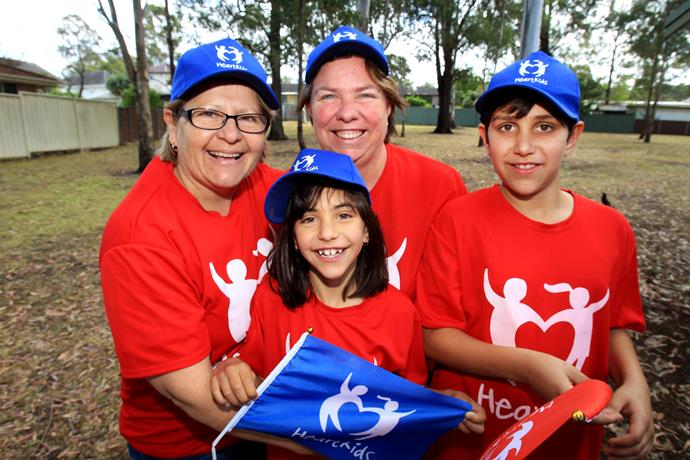 Khylie with Azri, her partner Anna and son Zaran at a Heartkids fundraiser.