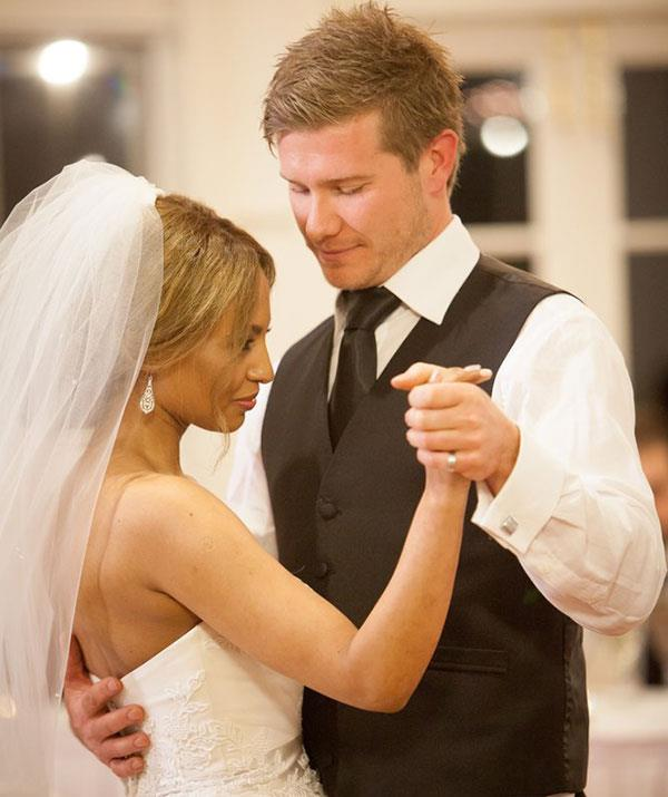 Their first dance as husband and wife.