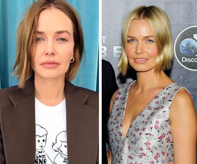 If any blondes out there are considering going dark, *this* is the way to do it. Aussie beauty Lara Worthington changed-up her iconic sunny bob for something a little darker and easier to manage.  <br><br> The mum-of-two stepped out earlier this year boasting warm, chestnut tresses. The lovely thing about taking your hair darker, the dye causes less damage than bleach and it needs fewer touch-ups, so your cut and colour will last you longer. If you're afraid of looking washed-out, follow Lara's lead and keep some highlights.