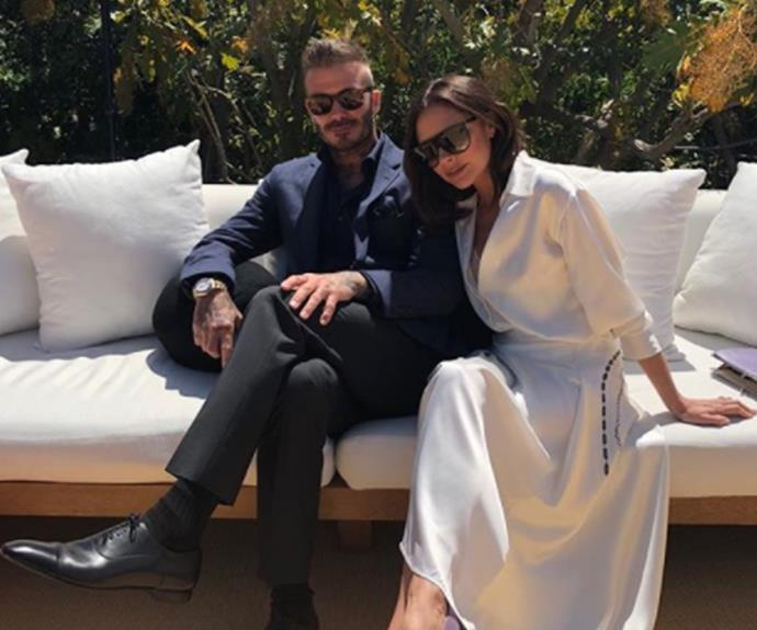 "This power-couple are all about family first. On her birthday Victoria posted to Instagram this gorgeous photo of herself and David with the caption, ""Love u so so much @davidbeckham. Thank u for making my birthday so special. The perfect day!! All 6 of us together."""