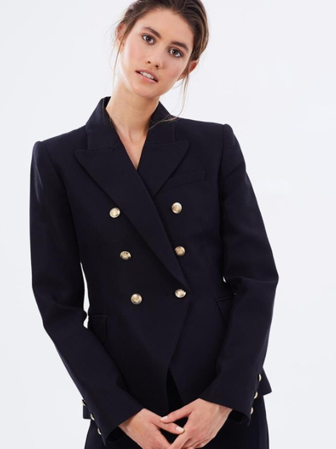 "[Dimmer blazer in Black, $699, CAMIILLA AND MARC.](https://www.camillaandmarc.com/dimmer-blazer-ink.html|target=""_blank""|rel=""nofollow"")"