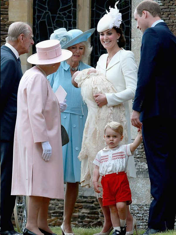 Princess Charlotte's christening.