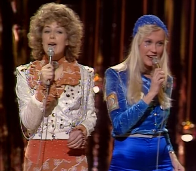 "One of the biggest names to come out of Eurovision is ABBA. Benny, Frida, Agnetha and Björn, performed ""Waterloo"" in 1974. The band scored Sweden their very first win before they became superstars."