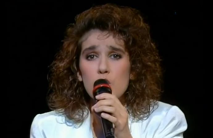 """Long before her Titanic hit """"My Heart Will Go On"""", French-Canadian Céline Dion sang for Switzerland in 1988."""