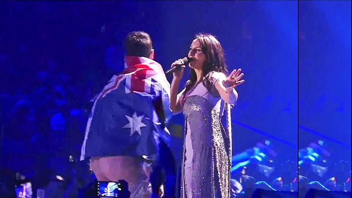 Australia made Eurovision history for all the wrong reasons in 2017. Viewers were shocked when a streaker wrapped in an Australian flag interrupted 2016 winner Jamala's song. Pulled from the stage, the invader was identified as a Ukrainian prankster – not a cheeky Aussie.