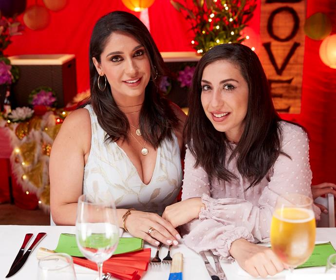 Sonia and Hadil moments before they were forced to leave the table.
