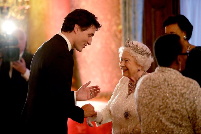 PM Trudeau and the Queen are clearly happy to see each other!