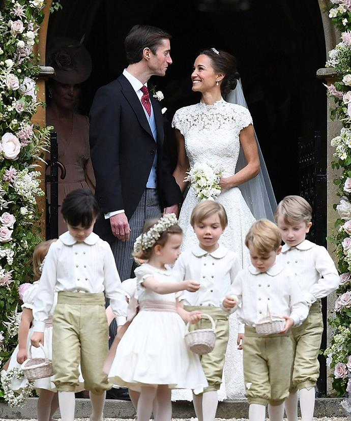 Pippa and James married in May last year.