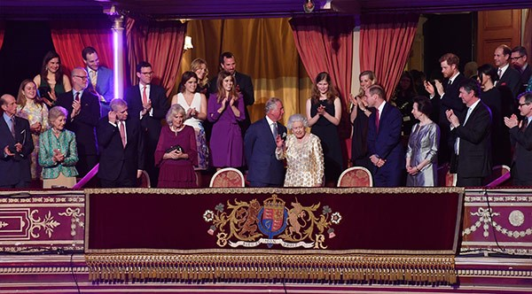 Her Majesty had most of her loved ones by her side for the big day.