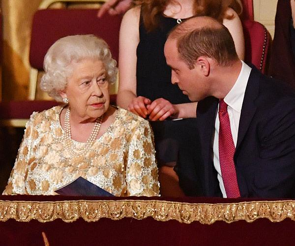 The Queen and Prince William were each other's dates will their better halves were at home.