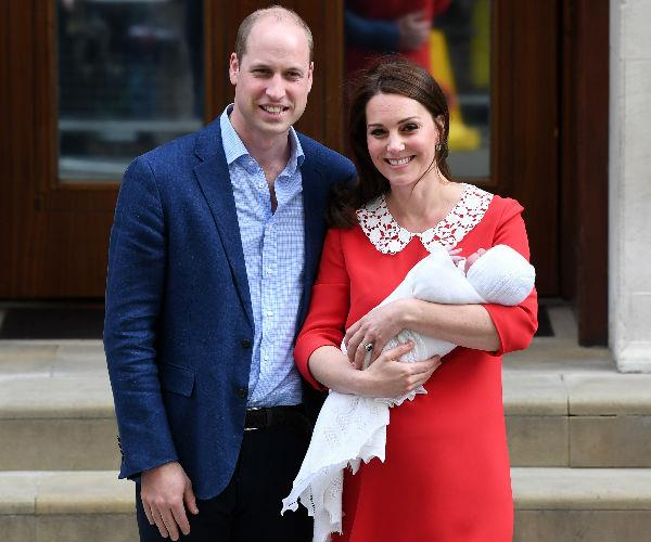 On Monday, April 23rd, the Duke and the Duchess of Cambridge took to the stairs of the Lindo Wing at St Mary's Hospital in Paddington, London to officially introduce the world to their third child... a baby boy.