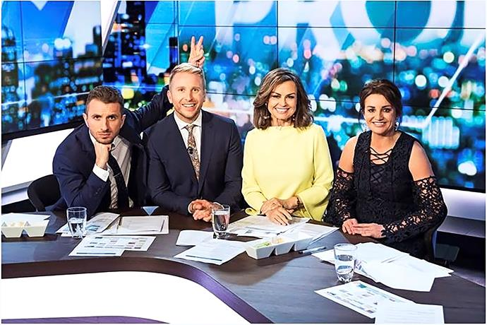 Tommy is right at home on *The Project* alongside Hamish MacDonald and Lisa Wilkinson.