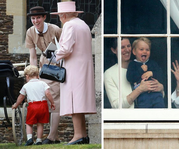 Nanny Maria looked after George and Charlotte at Kensington Palace while William and Catherine were at the hospital.