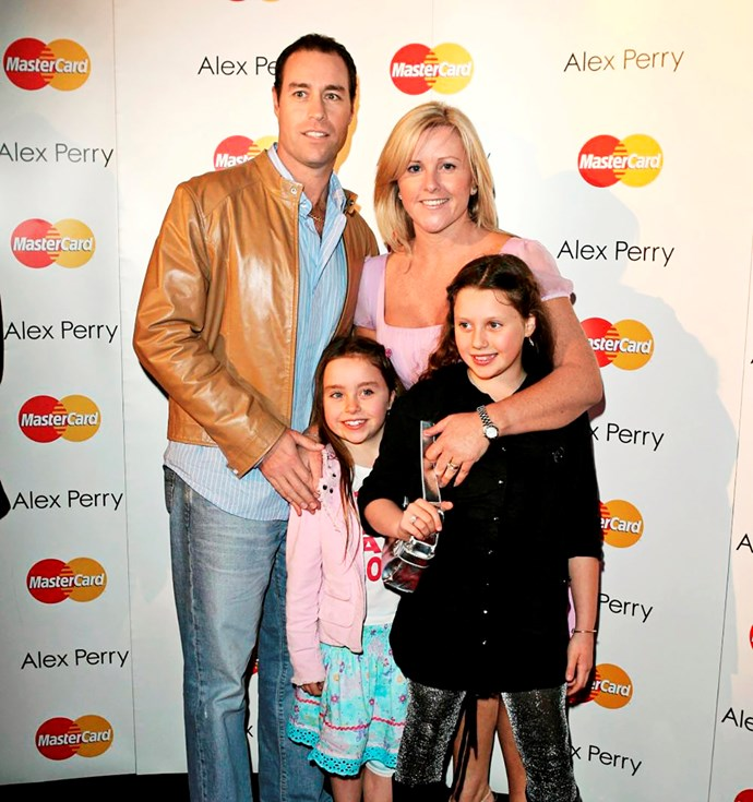 Michael and Tracy with daughters Amelia and Liv in 2008.