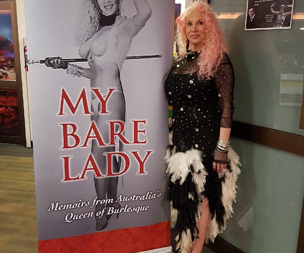 Me now with my book, My Bare Lady.