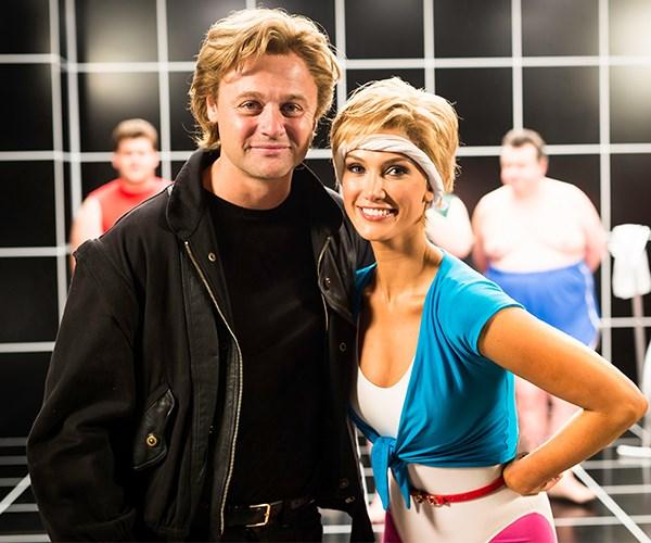 Delta Goodrem as Olivia Newton-John and Gyton Grantley as Roger Davies. Photography: Jackson Finter