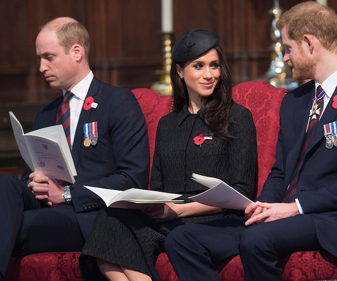 Newborn life! Prince William nodded off a few times during the Anzac Day service.