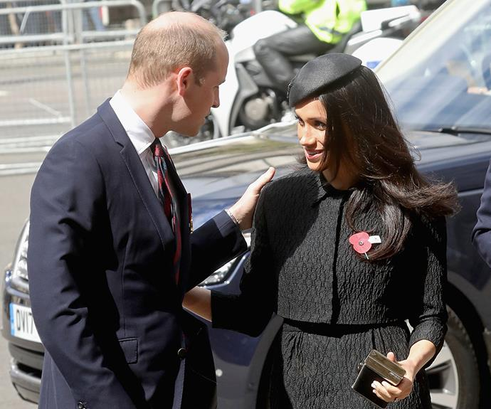 Meghan showed concern for her future brother-in-law who was clearly exhausted after two days at home with his newborn.
