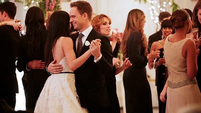 The on-screen couple finally tie the knot! *Credit: USA Network*