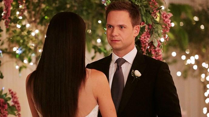 "Mike and Rachel say ""I do!"" *Credit: USA Network*"