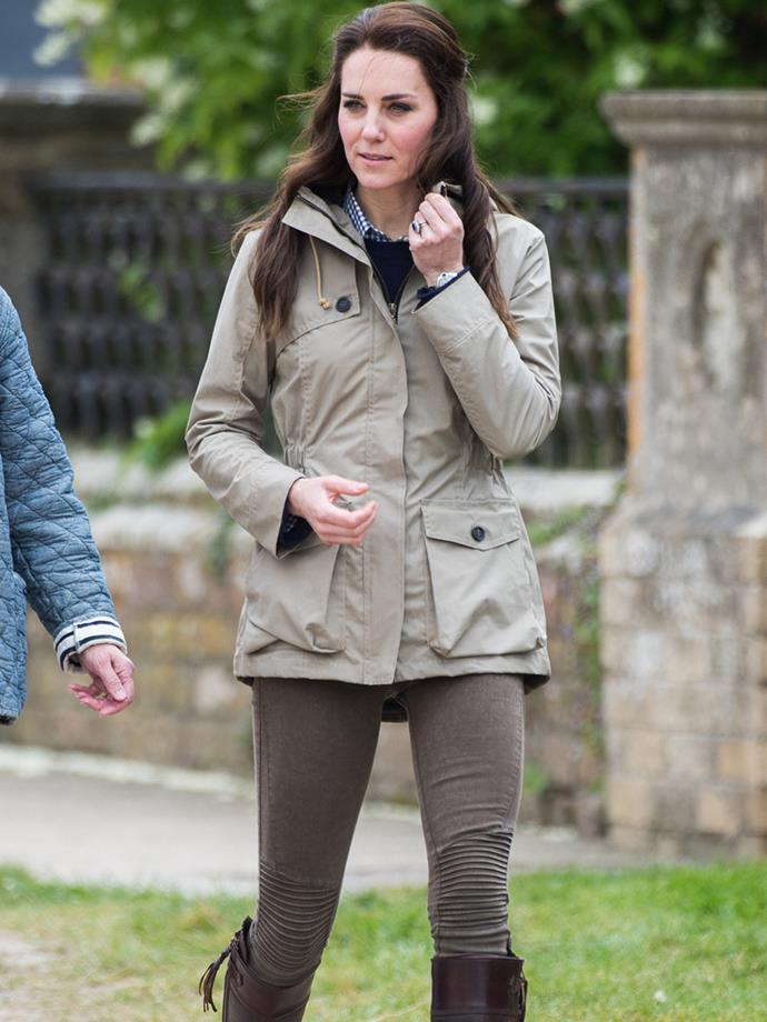 **THE UTILITY COAT.** For the mum-on-the-go an anorak in an easy neutral tone is ideal for transitional weather. Plus, if Kate approves, so do we!