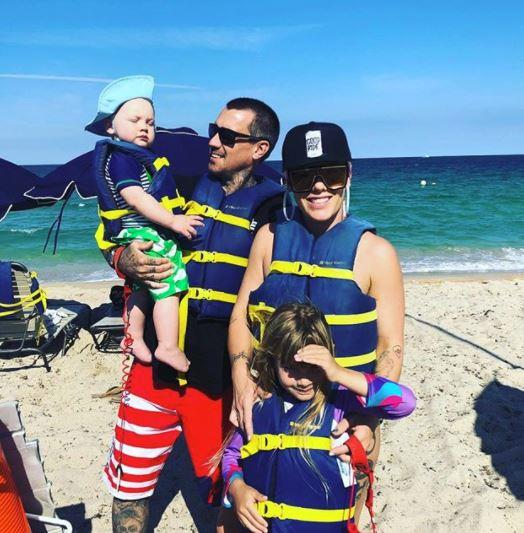 A family that dons life jackets and goes adventuring together stays together! Pink takes a break from touring Florida for some fun in the sun with her go-to crew. *(Image: Instagram @pink)*