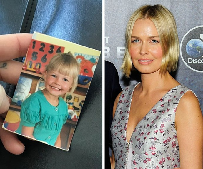 Too cute! Aussie model Lara Worthington shared to Instagram this super-smiley snap of herself as a tot in preschool. Even all the years later, the the mum-of-two still has the same plump cheeks and sunny blonde locks.