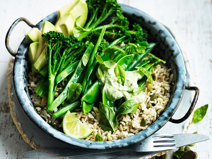 "**[Green goddess salad](http://www.foodtolove.com.au/recipes/green-goodness-in-a-bowl-30900|target=""_blank""