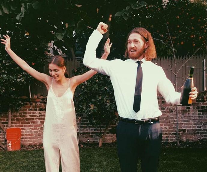 Caitlin and her husband, *Raising Hope* star Lucas Neff