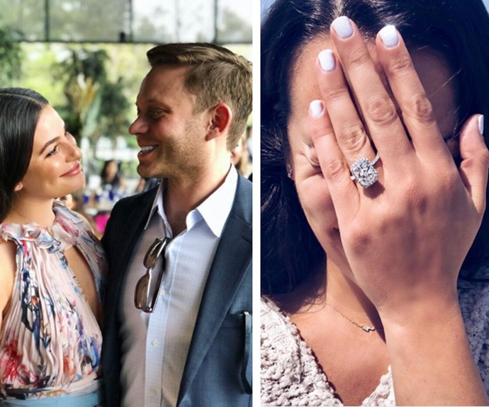 "Lea Michele has found love again. The Glee star announced her engagement to boyfriend Zandy Reich (president of clothing company AYR) on Instagram on Saturday, posting a photo of herself with her blinged-out left hand on her face. ""Yes,"" the 31-year-old captioned the snap. It's been a rough few years for the brunette beauty, who tragically lost her ex-boyfriend, Cory Monteith to a combination alcohol and heroin overdose back in 2013."