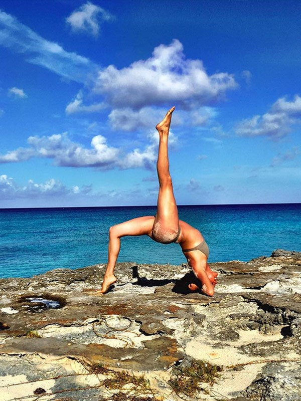 Beach yoga...